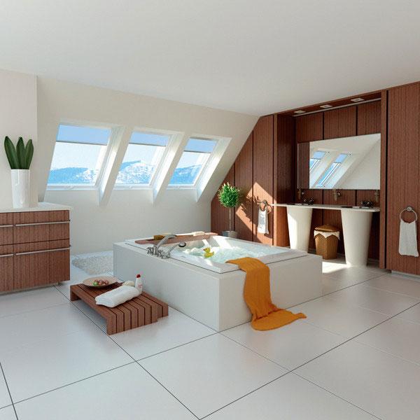 חדר עם חלון גג